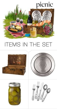 """Picnic"" by sjlew ❤ liked on Polyvore featuring art"