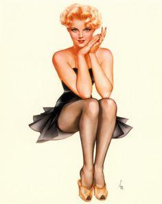 VARGAS Marilyn Monroe En Garde Poster Beautiful Iconic Woman Vintage Large Pin-up Art Print 1950s Glamour Girl