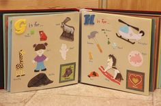 A personalized ABC Book for kids.  Put their fav. animals and even a pic of mom & dad!
