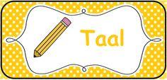 Structuur in de klas brengen: kaarten voor op het prikbord. --> Taal/Nederlands © Sarah Verhoeven