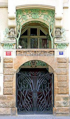 Art Nouveau of Prague, Czechia #city #houses #Czechia #Prague