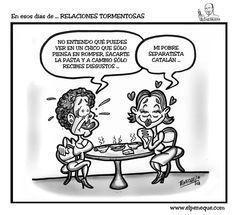 En esos días de ... RELACIONES TORMENTOSAS   EL PENEQUE   HUMOR GRÁFICO & CARICATURAS