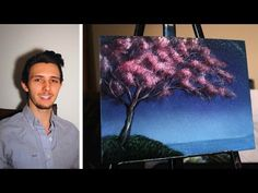 How to paint a cherry blossom tree! A basic speed painting tutorial of a cherry tree for beginners - YouTube