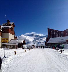 A entrada do Valle Nevado - Chile