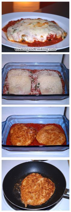 Chicken Parmesan Recipe .. Use THM / Low carb swap for bread crumbs