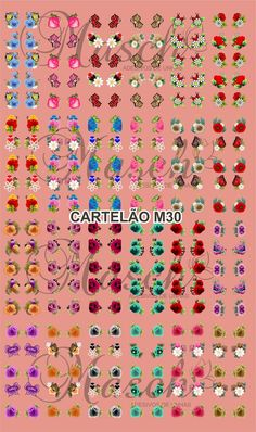 Cassi, Sprinkles, 3 D, Cartoons, Stickers, Nails, Beauty, Nail Decals, Colorful Nails