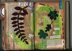 Leaves page in Altered book by Phizzychick