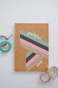Cute way to personalise with FRAMSTÄLLA tape! - Gratitude journal with washi cover