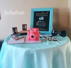 INSTAX Polaroid Guest Book Photo Booth.. too much fun and great keepsake!