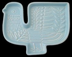 Poole Pottery Stylised Bird Plaque / Tray Designed By Robert Jefferson - 1960's | eBay
