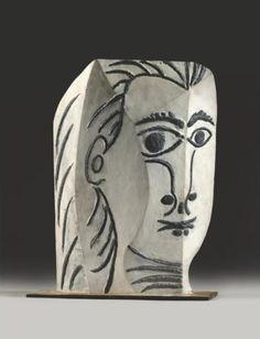 Pablo Picasso - Tête de femme, 1961
