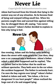 This is an amazing moral story for kids online. Full story in link above, read now. Good Moral Stories, English Moral Stories, Good Bedtime Stories, English Stories For Kids, English Story, Kids English, Simple Stories For Kids, Islamic Books For Kids, English Activities For Kids