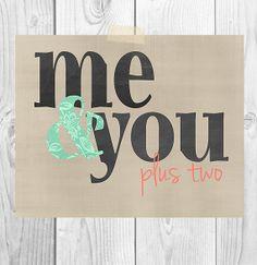 Chalkboard Printable Art  Me & You...plus 2 by ScubamouseStudiosJr, $5.00