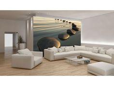 Papel de parede Wallpaper www.intense-mobiliario.com  http://intense-mobiliario.com/pt/fotomurais/8094-fotomural-kamienie-na-wozdie.html
