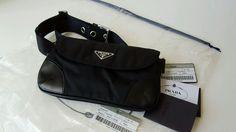 Auth PRADA Nylon belt Hip Bag Waist Bag BM0003 travel  #PRADA #waistbag