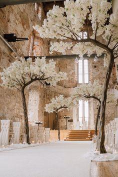 Outdoor Wedding Decorations, Wedding Themes, Wedding Centerpieces, Wedding Ideas, Wedding Entrance, Wedding Ceremony, Wedding Venues, Blossom Tree Wedding, Blossom Trees