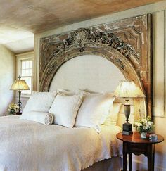 Mantle headboard
