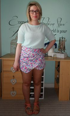How I Style The Floral Skort