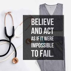 Believe and act as if it were impossible to fail. #motivation #premed #MCAT #premedlife