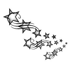 Shooting stars tattoo