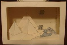 5 page download for an Egyptian diorama..Color the pieces