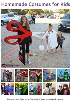 Homemade Costumes for Kids - Halloween costume contest like the scuba divers box of popcorn Legos cowgirl/boys piñata ice cream cone and a box of mc Donalds French fries