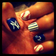 Baseball Nails ... Yankees