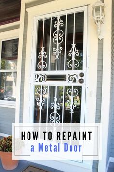 How To Repaint A Metal Storm Door