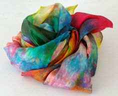 Rainbow Play Silk  Heart of the Rainbow Red by BeneathTheRowanTree, $15.25- I'd love to have these in the Easter baskets
