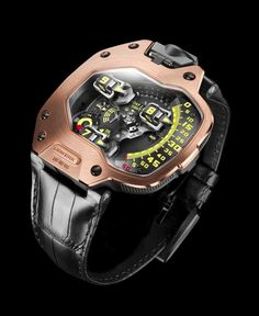 Oh Jesus, if I made 100x as much, I would SO get this... Urwerk UR-110 priced at USD 77,000. #unique #watch