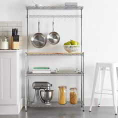 And it has strong anti-rust performance. Moreover, it has a MDF board, which can be used as a cutting board. So don't hesitate, just buy it! 1 x Baker's Rack. Hanging bar includes 4 hooks for easy storage of kitchen utensils. Kitchen Organization, Kitchen Storage, Storage Organization, Storage Racks, Prep Kitchen, Wine Storage, Garage Storage, Kitchen Living, Kitchen Ideas