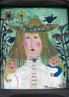 A Spring 2014 Card Collection of 10 different images from: Barbara Strawser, Folk Painter