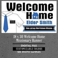 printed welcome home banner ldshomecoming poster deployment poster any size welcomehome missionary ldsmission pinterest banners
