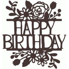 silhouette online store - view design 64674: bird floral flourish happy birthday split title