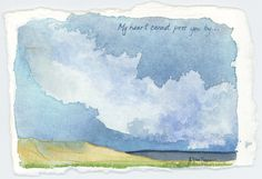 Original Watercolor Painting, Mojave Desert Landscape Sketch, Watercolour Artwork by ElissaSueWatercolors on Etsy