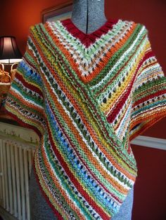 This is a knit pattern for a beautiful poncho created by a constant changing of colors. Not to worry, I have instructions to keep you from weaving in all those ends!!! It will fit a small to a large frame easily! Once purchase is made, pattern can be downloaded.
