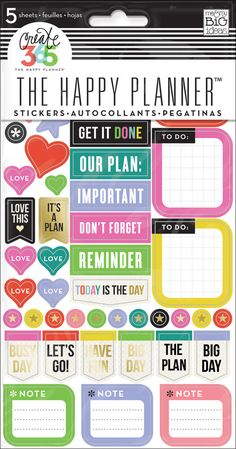 Everyday Reminders stickers for The Happy Planner™ | me & my BIG ideas
