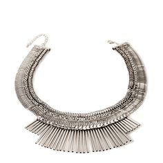 Forever 21 Fringe Statement Necklace ($16) ❤ liked on Polyvore featuring jewelry, necklaces, accessories, statement pendant necklace, chain jewelry, diamond pendant jewelry, pandora jewelry and pendant chain necklace