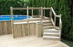 escalier vers piscine hors-terre - Recherche Google
