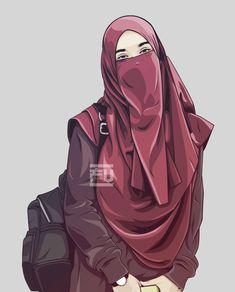 The scarf is an essential bit within the garments of females together with hijab. Hijabi Girl, Girl Hijab, Muslim Girls, Muslim Women, Girl Cartoon, Cartoon Art, Caricature, Cover Wattpad, Hijab Drawing