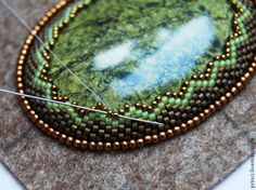 Detailed Master Class for beaded cabochon with backing. (Translate)  ~ Seed Bead Tutorials