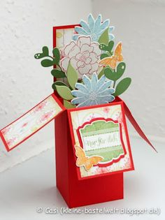 Kerstin's kleine Bastelwelt: Card in a Box, Secret Garden