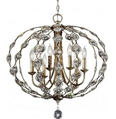 A 6 light chandelier featuring a traditional design with plenty of modern twists