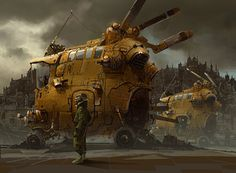 Steampunk or dieselpunk style ship  The Art Of Animation, Ian McQue - https://www.facebook.com/ianmcque...