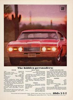 1968 Oldsmobile 442 Ad. Dads is a 1967, still cool