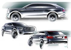 2012 Bentley EXP 9 F Concept - Design Sketches http://www.carbodydesign.com/design-sketch-board/page/98/?sort=recent