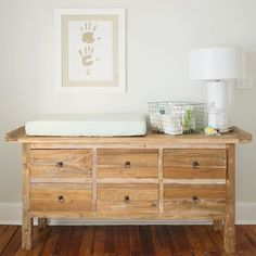 Gender neutral white nursery with wood accents rustic modern - can be used after baby in just about any room