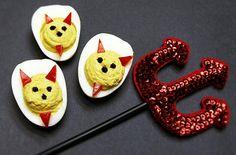 DEVIL'S FOOD....Deviled Eggs | Halloween Deviled Egg Recipes