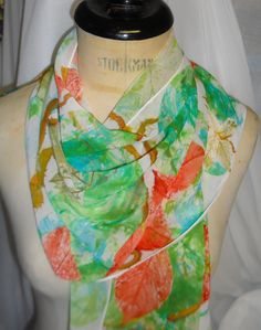 Virginia Creeper leaf print scarf