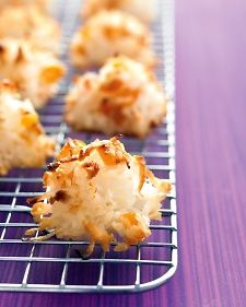 Coconut-Apricot Macaroons: Be SURE to substitute Coconut Sugar for regular sugar to better metabolize.